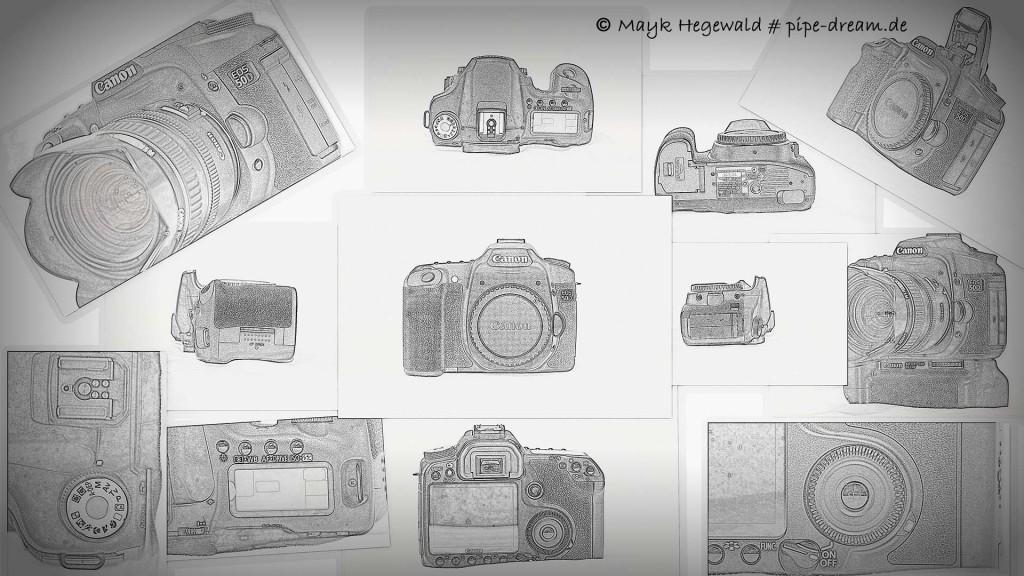 Canon 50D - Bleistiftzeichnung - verschiedene Richtungen